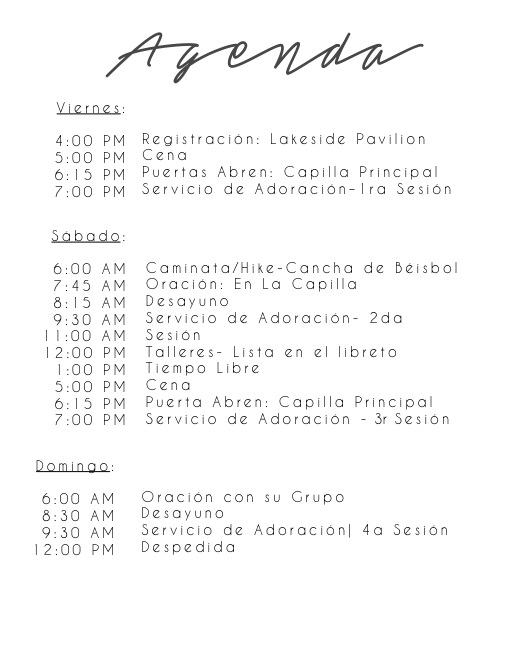 Spanish Schedule